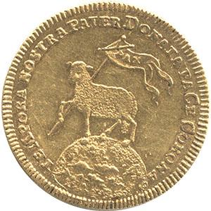 ラムダカット角型クリッペ金貨