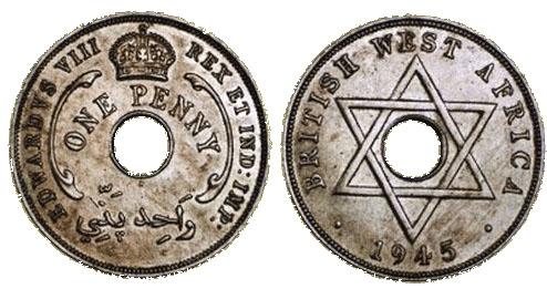 英領西アフリカペニー白銅貨